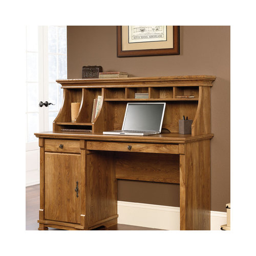 Bundle-46 Sauder French Mills Office Computer Desk with Hutch (4 Pieces)
