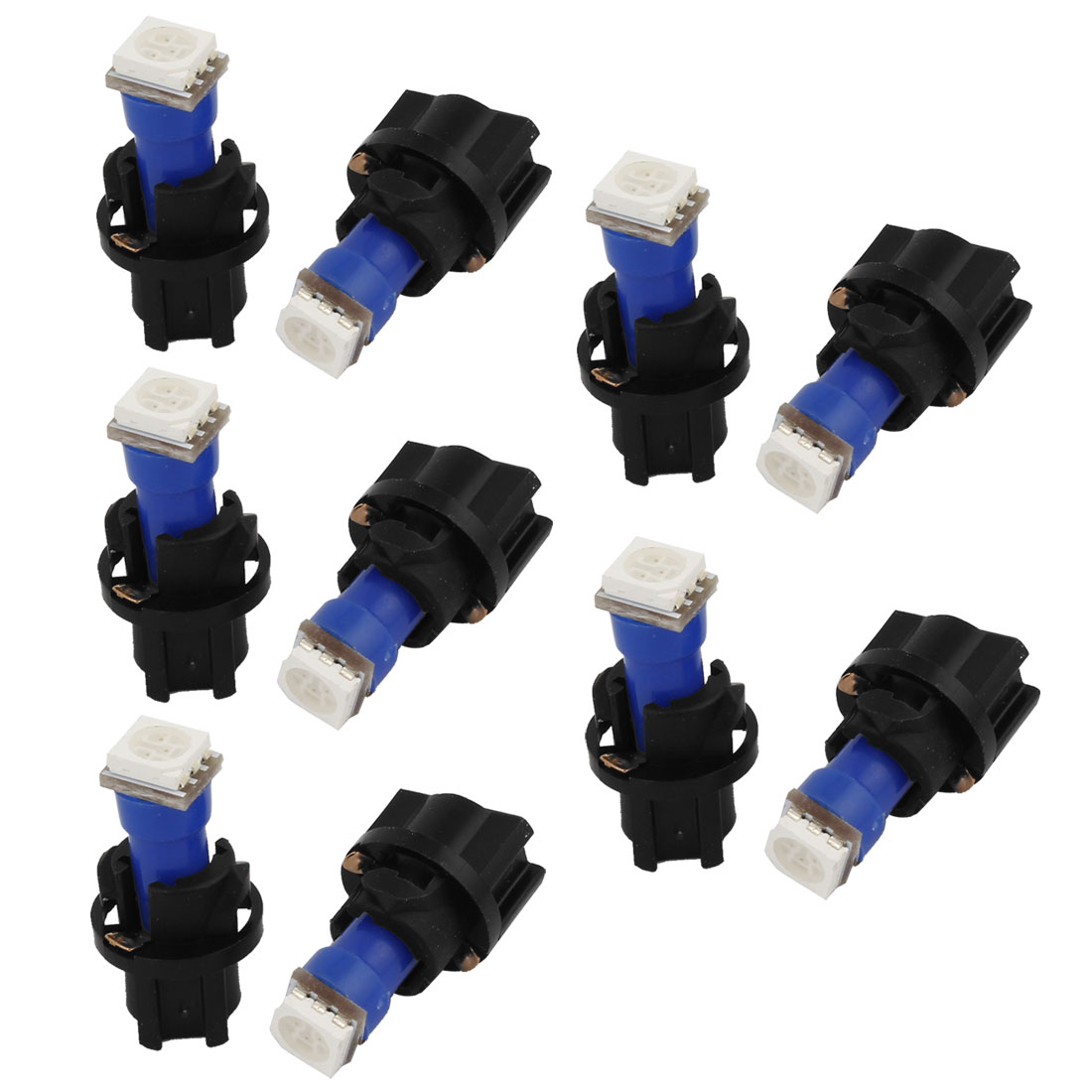 Unique Bargains 10pcs T5 5050 SMD PC74 Blue LED Car Side Lights Dashboard Lamps Bulbs Interior