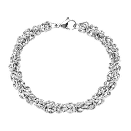 Riddles Group Stainless Steel Byzantine Chain Bracelet