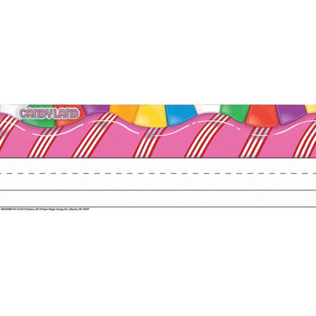 CANDY LAND TENTED NAME PLATES