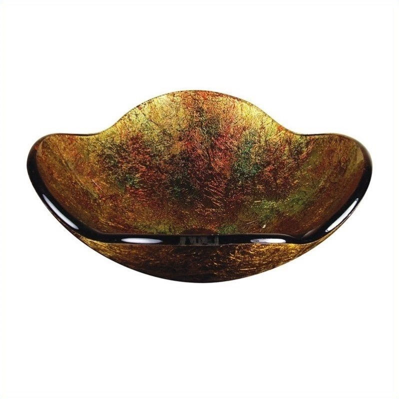 Yosemite Home Decor Shania Vessel Sink - Gold Flower