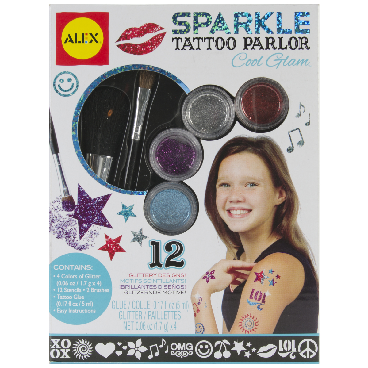 Sparkle Tattoo Parlor Kit-Cool Glam