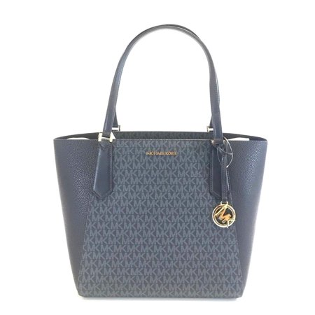 BRAND NEW WOMENS MICHAEL KORS KIMBERLY LARGE BONDED ADMIRAL BLUE TOTE HAND