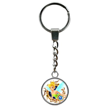 Tinkerbell Disney Keychain Key Ring TV Comics Movies Cartoons Superhero Logo Theme Premium Quality Detailed Cosplay Jewelry Gift Series](Tinkerbell Ring)