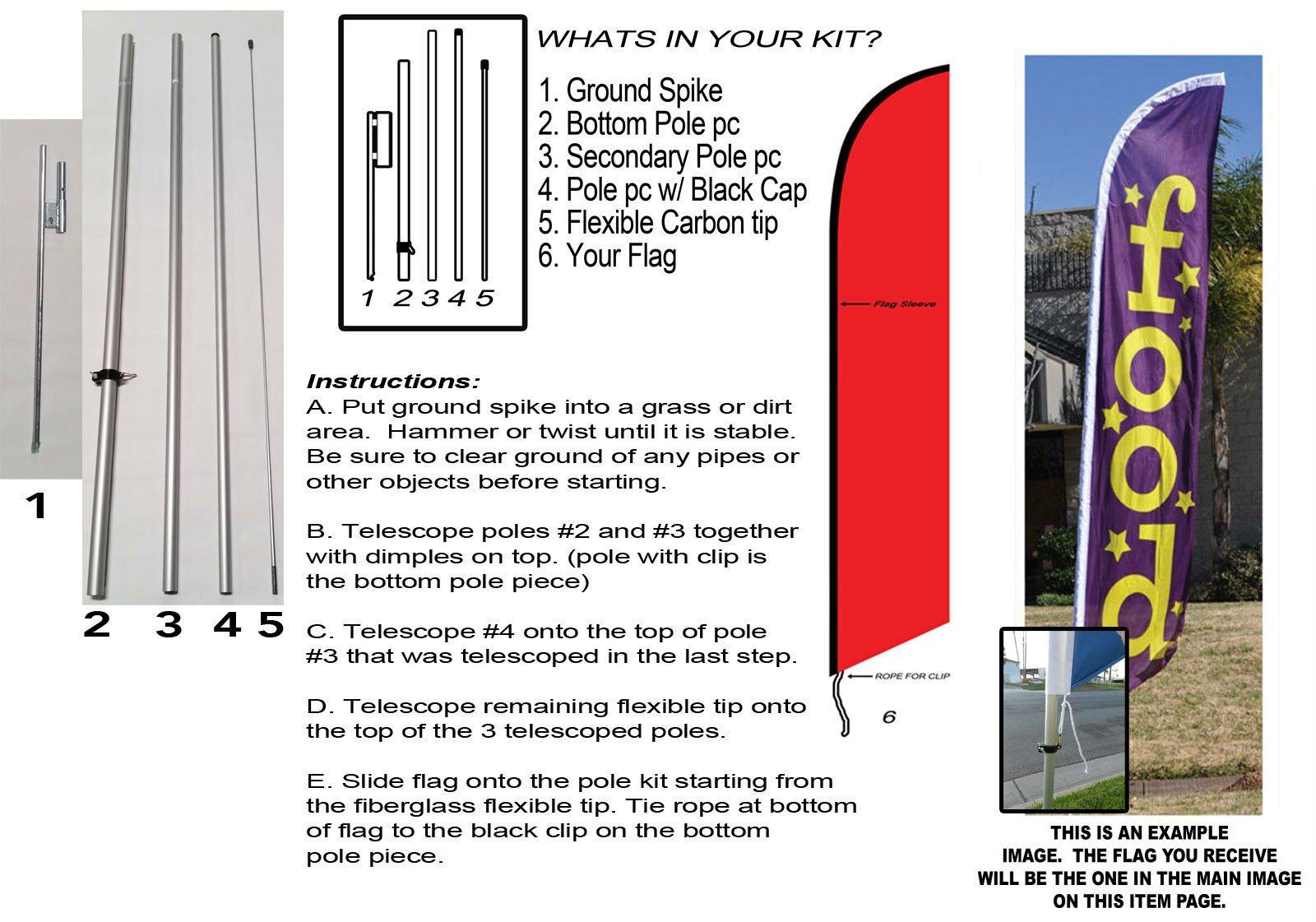 3w x 12h Flag Full Color 1 Kit Kit with 15 Pole and Ground Spike Bentley Automotive Swooper Boomer Rectangular Flag