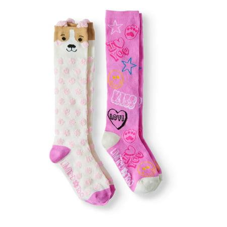 Leopard Knee High Socks - Girls' Knee High Socks, 2 Pairs