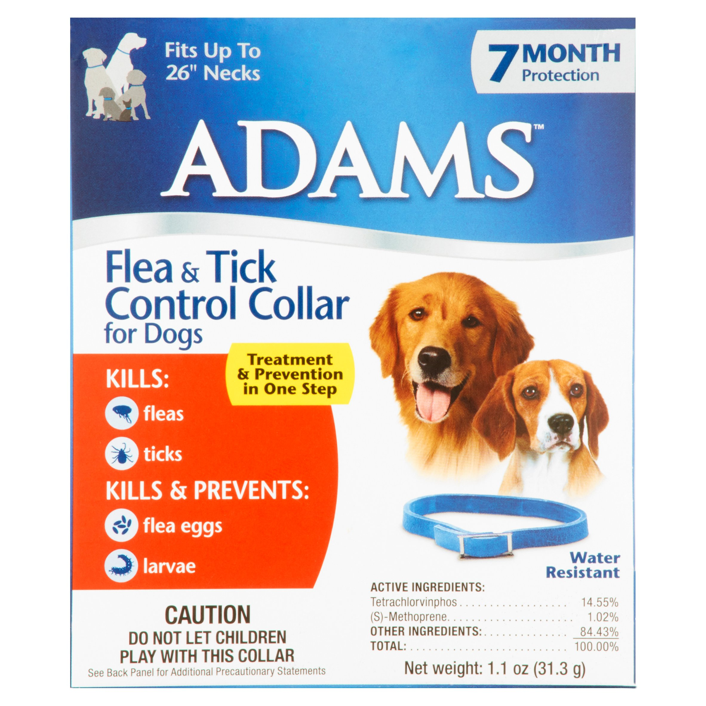 Adams Flea & Tick Control Collar for Dogs, ea by Central Garden and Pet Company
