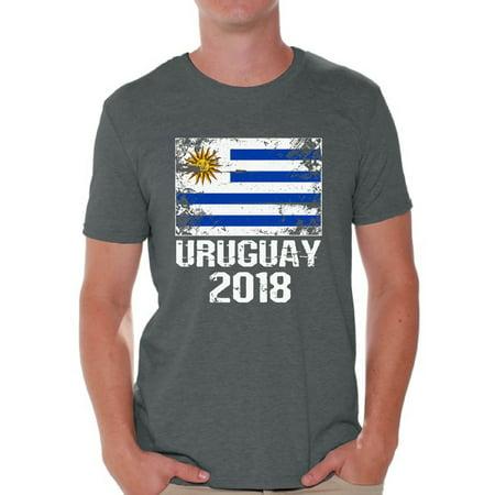 Awkward Styles - Awkward Styles Uruguay 2018 Men s T Shirt Uruguayans Flag  Shirts for Men Uruguay Football Shirt for Men Uruguay Soccer Shirt Gifts  for ... 7fab72997