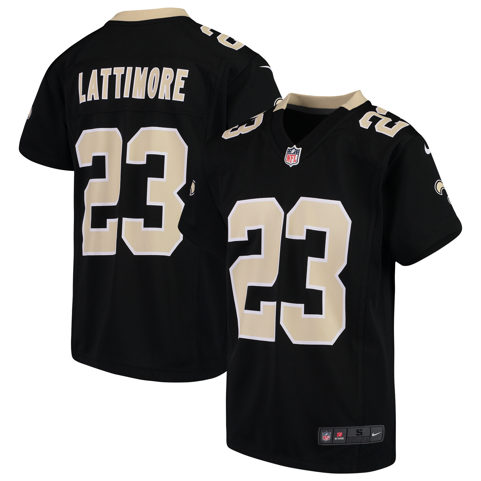 Marshon Lattimore New Orleans Saints Nike Youth 2018 Game Jersey - Black