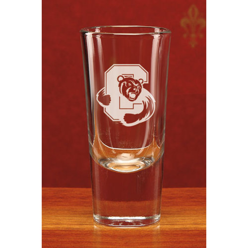NCAA - Cornell Big Red 4 oz Deep Etched Large Crystal Shot Glass