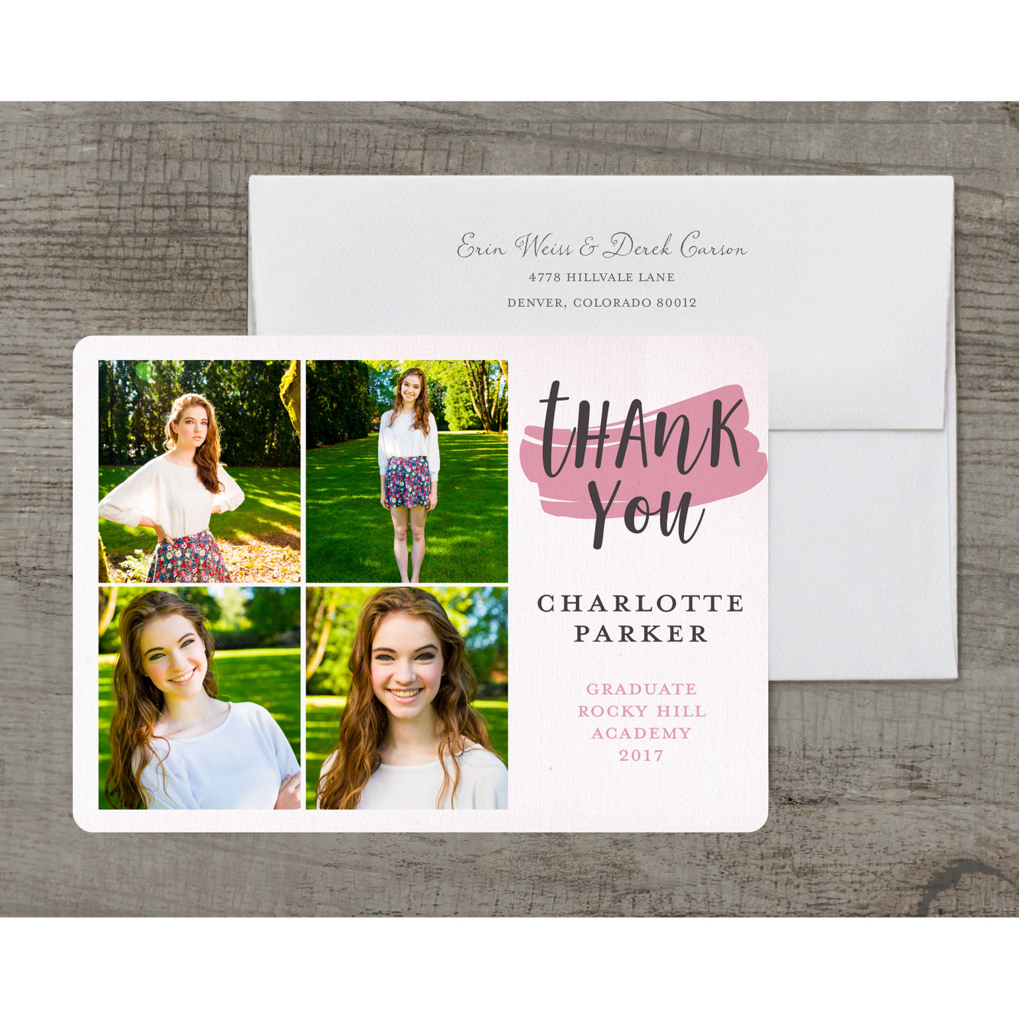 Going Places Deluxe Graduation Thank You Card
