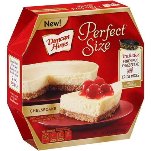 Duncan Hines Perfect Size Cheesecake Filling & Graham Cracker Crust Mixes, 6.6 oz