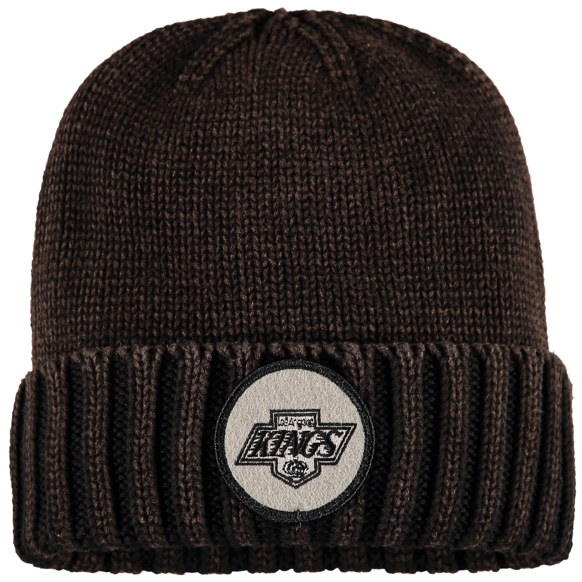 Los Angeles Kings Mitchell & Ness Vintage Ribbed Cuffed Knit Hat - Brown - OSFA