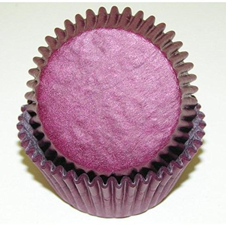 Burgundy Cupcake Wrappers (500pc Solid Burgundy Color Standard Size Cupcake Baking Cups Liners)