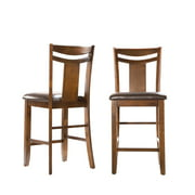 Weston Home Counter Height Chair , Set of 2, Dark Brown