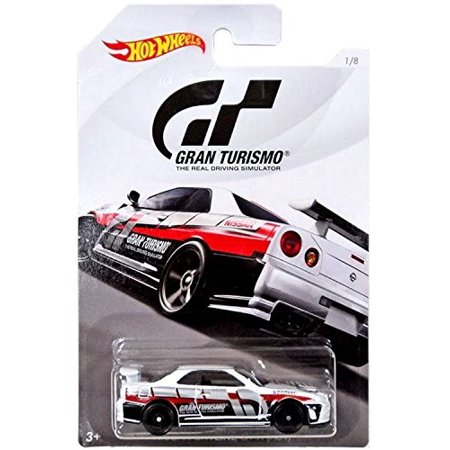 Hot Wheels NISSAN SKYLINE GT-R 2018 GRAN TURISMO Series 2 White NISSAN SKYLINE GT-R R34 1:64 Scale Collectible Die Cast Metal To
