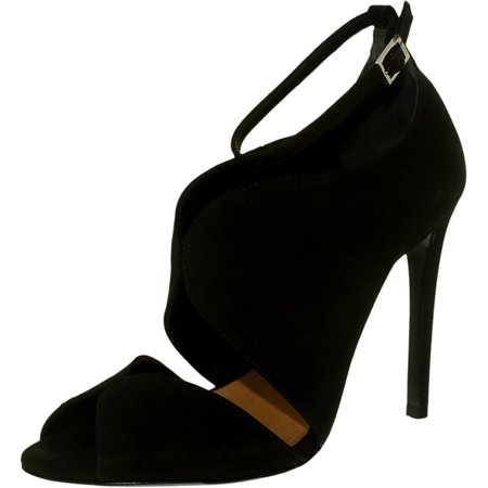 Schutz Women's Moon Suede Black Ankle-High Pump - 8.5M - image 3 of 3