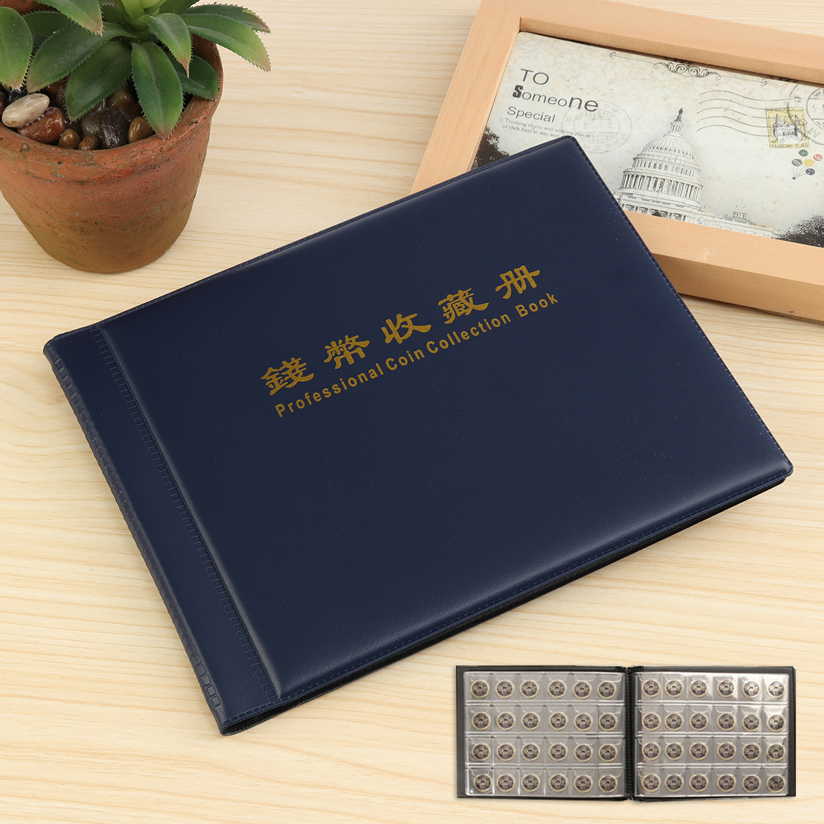 240 Holders Collecting Money Penny Book Collection Coin Storage Album Book 10 page Blue