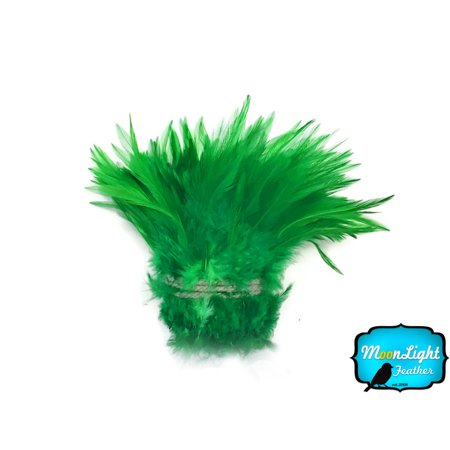 Supply Feather Light 4 Wheel (4 Inch Strip - Kelly Green Strung Chinese Rooster Saddle Feathers)