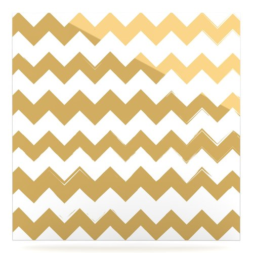East Urban Home 'Candy Cane' Graphic Art Print on Metal in Gold