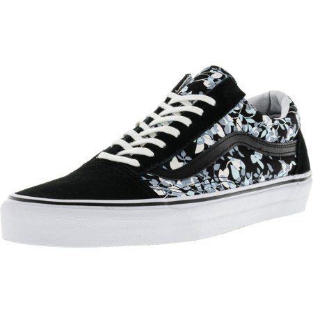 0075f1752c1e98 Vans - Vans Old Skool Reverse Floral Black   True White Ankle-High Canvas  Skateboarding Shoe - 10M 8.5M - Walmart.com