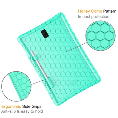 Silicone Case for Samsung Galaxy Tab S4 10.5 2018, Fintie Kids Friendly Light Weight Cover w/ S Pen Holder, Mint Green - image 5 de 7