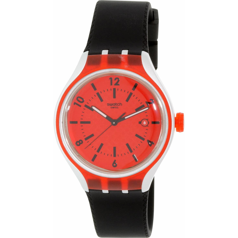 Swatch Men's Irony YES4008 Black Rubber Quartz Fashion Watch