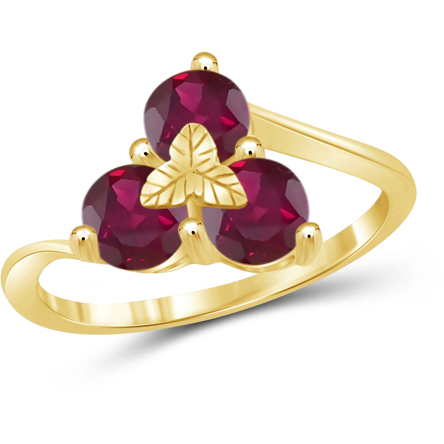JewelersClub 2.04 Carat T.G.W. Ruby Gemstone Gold over Sterling Silver Ring by JewelersClub
