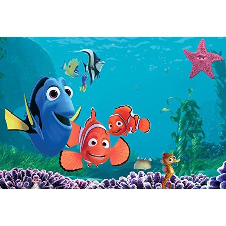Finding Nemo Edible Cake Topper Frosting 1/4 Sheet Birthday Party - Finding Nemo Party Supplies Walmart