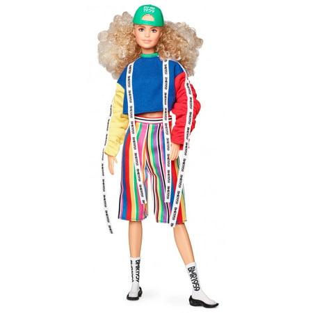 Barbie BMR1959 - Color Block Sweatshirt with Logo Tape & Striped Shorts
