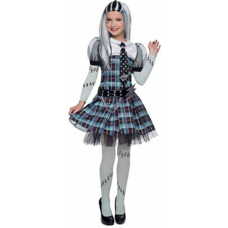 Deluxe Monster High Frankie Stein Girls' Child Halloween Costume](Frankie Stein Kids Costume)