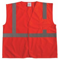 ZORO SELECT 53YL01 U-Block Vest, Class2 Orange/Red, L/XL