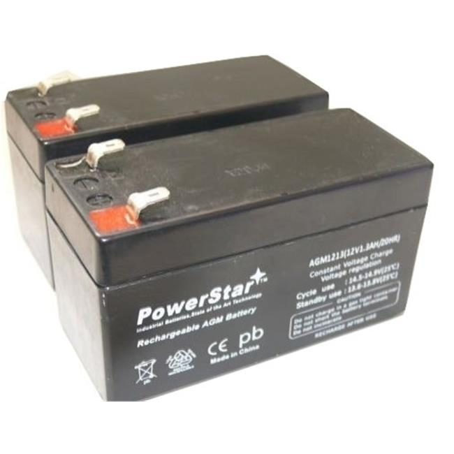 PowerStar AGM1213-2Pack2 12V 1.3Ah Replacement Battery for Power Patrol SLA1005 - 2 Pack