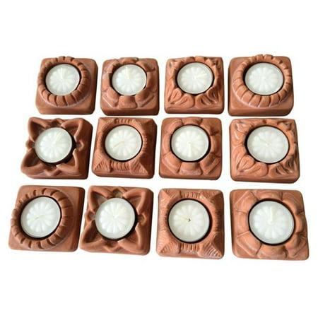 JBK Pottery 02303 Tealight Candle Holder Base, Terra Cotta