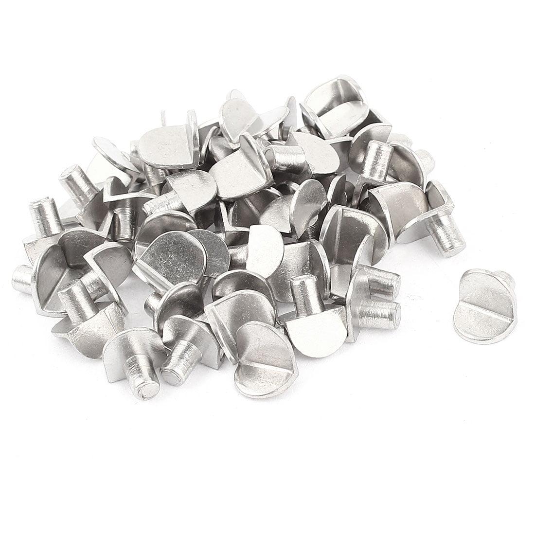 Unique Bargains L Shaped Glass Wooden Shelf Support Holder Pin Stud 50 Pcs