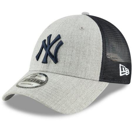0ea4a389 New York Yankees New Era Turn Trucker 9FORTY Adjustable Snapback Hat -  Heathered Gray/Navy - OSFA - Walmart.com