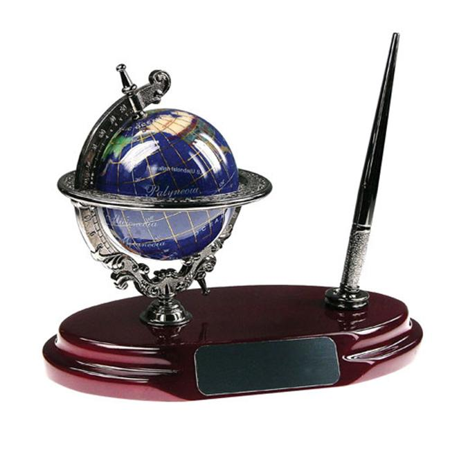 Bluestone Designs BL001A Gemstone Globe Pen Stand