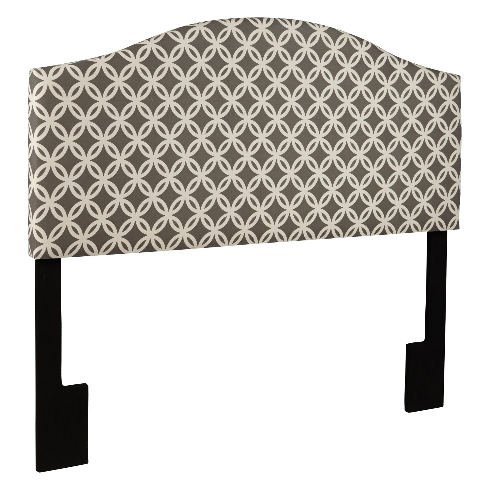Queen Upholstered Headboard, Quatrefoil Navy