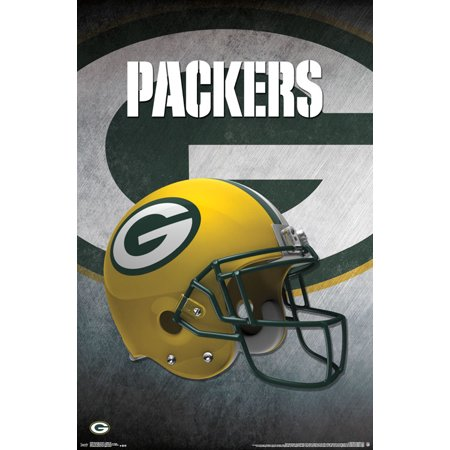 trends international green bay packers helmet wall poster 22 375 x