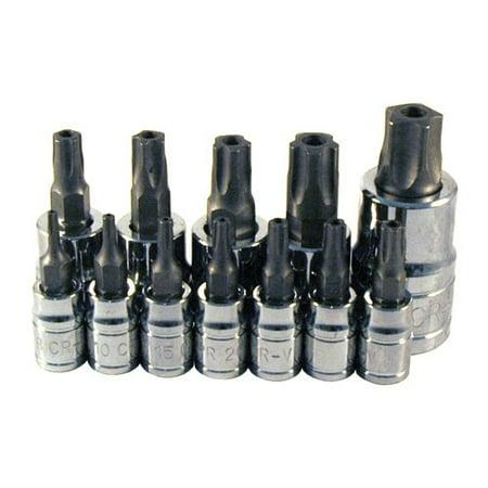 Atd Tools ATD-13778 5-lobe Tamper-resistant Star Plus Bit Socket Set, 12 Pc.