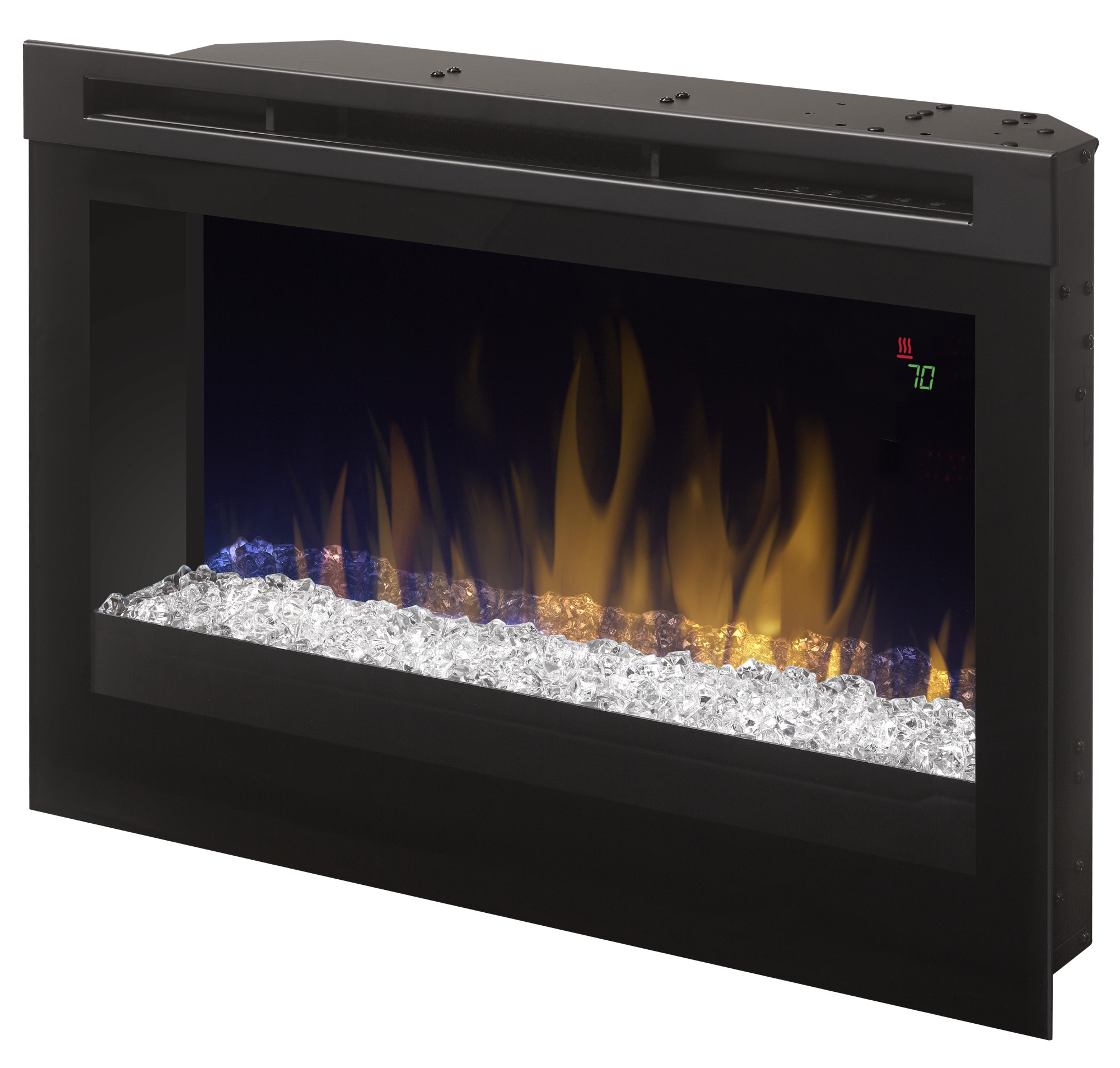 Dimplex DFR2551G 1500 Watt 25 Inch Wide Built-In Vent Free Electric Fireplace wi
