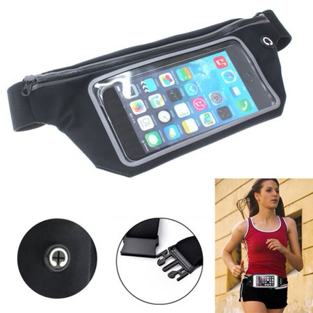 Sports Running Workout Waist Band Belt Bag Case Pouch Cover for LG Stylo 4 - Samsung Galaxy Note9 Note8 - ZTE ZMax Pro Z981, Max XL Duo LTE, Grand X Max 2, Blade X