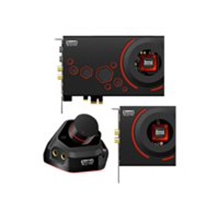 Creative Sound Blaster ZxR - Sound card with expansion module - 24-bit - 192 kHz - 124 dB SNR - 5.1 - PCIe - Sound Core3D (Asio Sound Card Pcie)