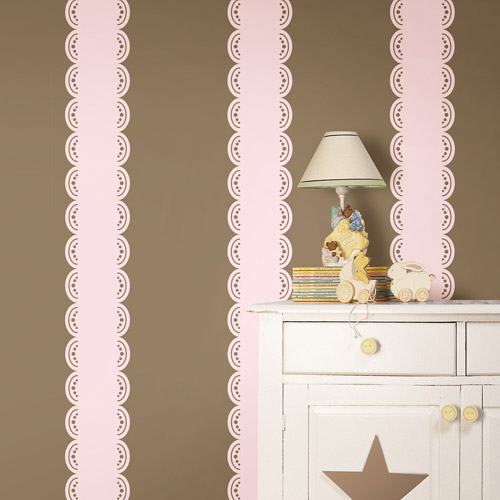 WallPops - Stripe Border, Gigi Pink