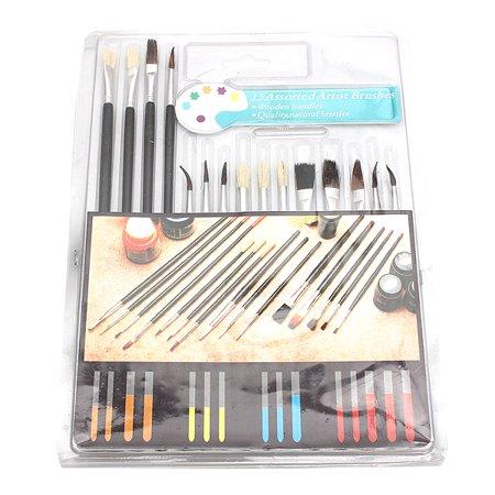 15Pcs Assorted Size Set Artist Paint Brushes Artist paint brushes Tools For Oil Painting Watercolor - Artist Paint Brushes