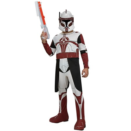 Star Wars Clone Wars Clone Trooper Commander Fox Child - Star Fox Costume For Sale