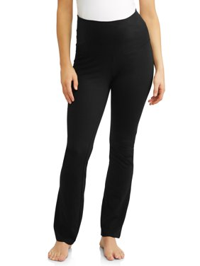 Maternity Times Two Flared Yoga Pant with Full Panel (Black)