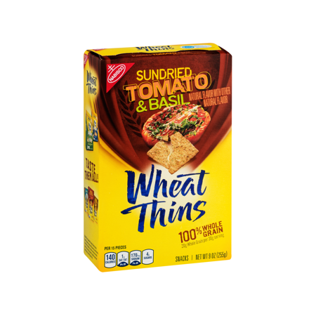 Nabisco Wheat Thins Wheat Thins, Sun Dried Tomato & Basil ...