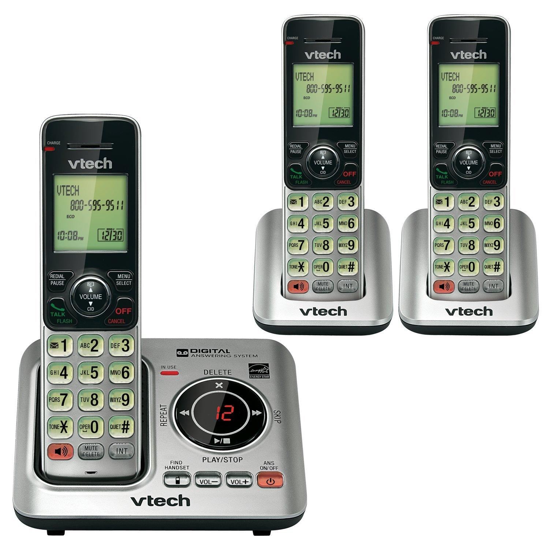 phone handset cordless, Vtech Cs66293 3-handset home phone handset landline