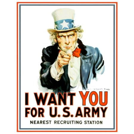 Uncle Sam I Want You Tin Sign - - Sam I Am Sign